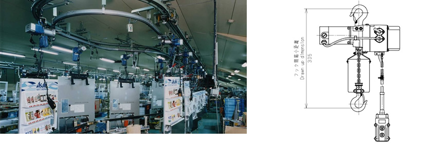 Single Phase Type Small Electric Chain Hoists in the production line